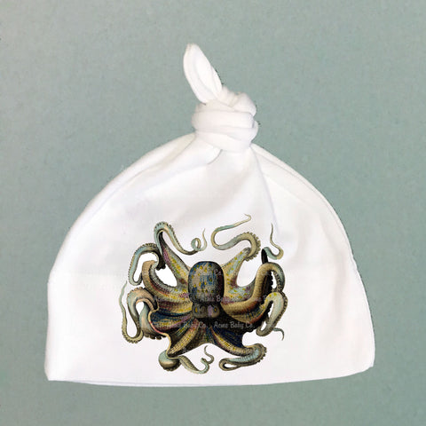Colorful Octopus Organic Cotton Baby Knit Cap