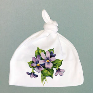 Sweet Violets Organic Cotton Knit Cap