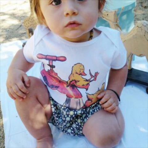 Vintage Style Ducklings, Boys Top, Unisex shirt, Baby T shirt, size 3m, 6m, 12m, 18m