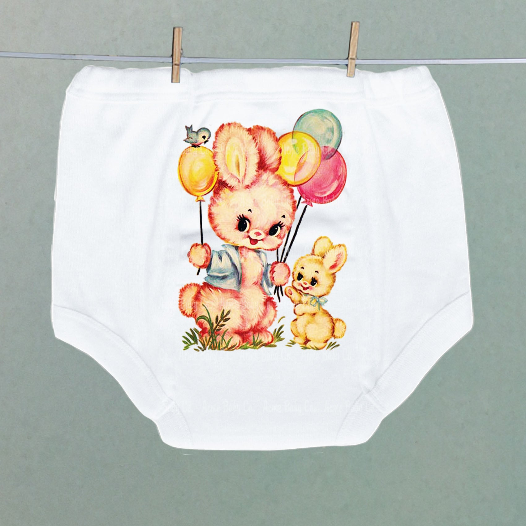 Bunnies and Balloons Potty Pants