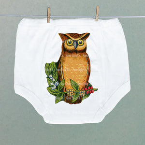 Wise Owl on Branch Potty Training Pants