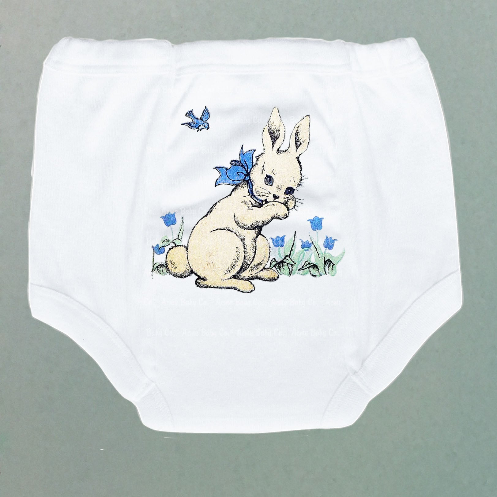 White Rabbit with Bluebells Potty Training Pants
