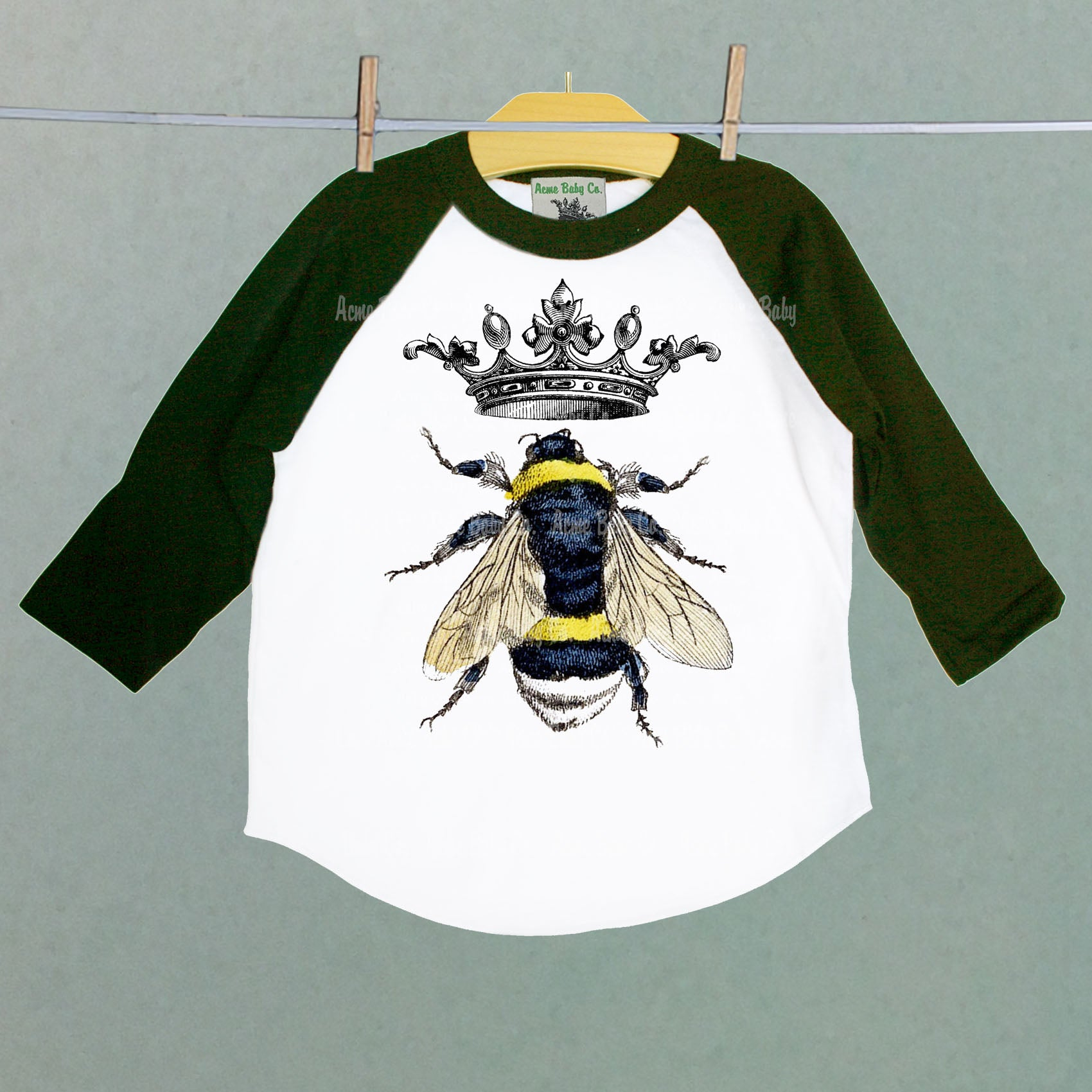Queen Bee Children's Raglan Baseball Shirt