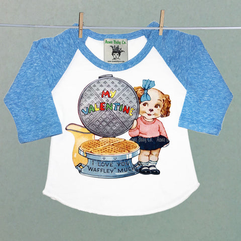 Puppy Dog and Waffles Valentine Raglan Shirt