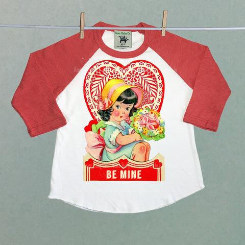 Be Mine Girl's Raglan Baseball Shirt