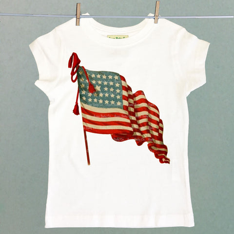 American Flag Girl's Shirt