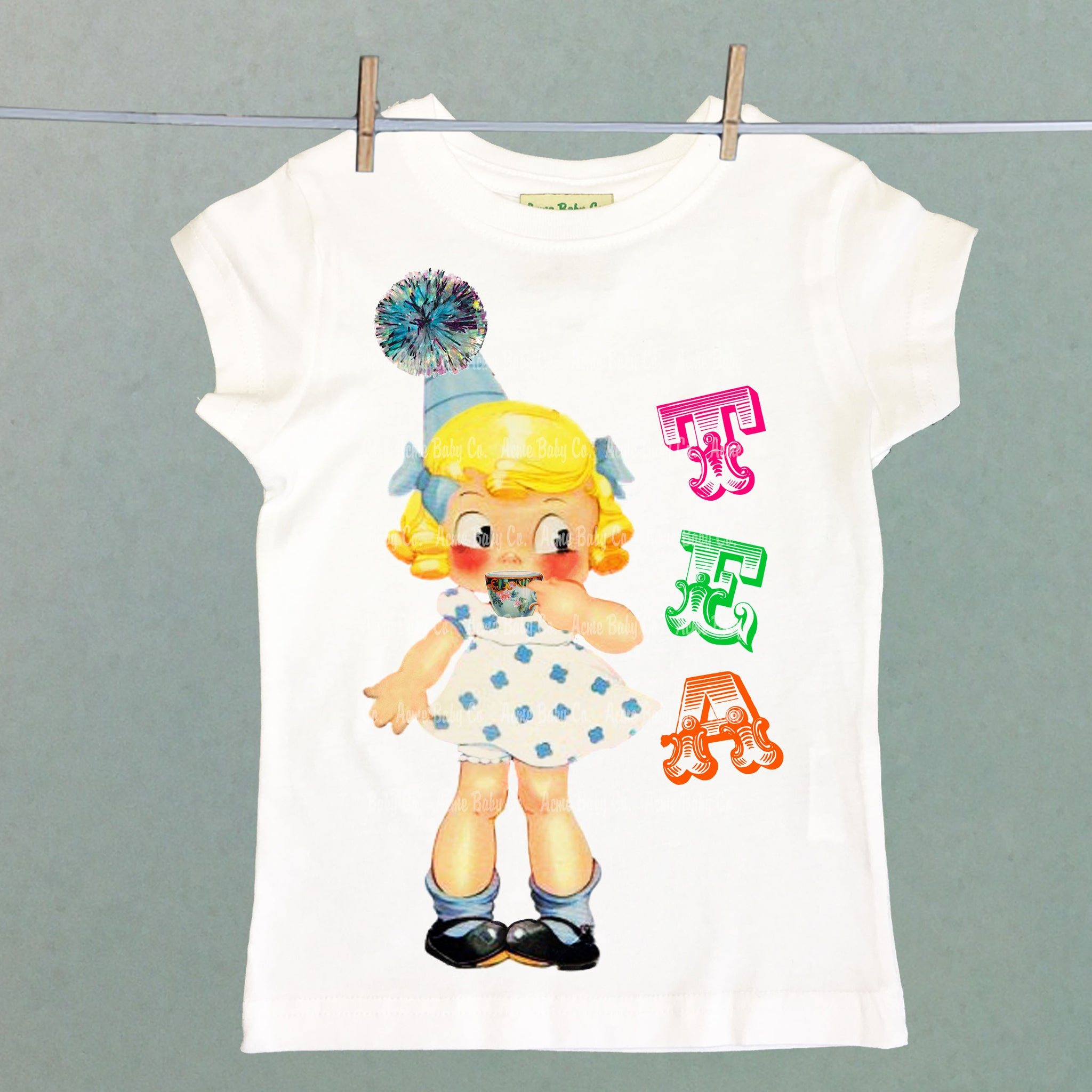 Tea Party Girl's Shirt