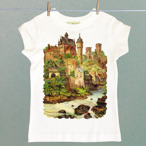 European Castle Girl's Shirt