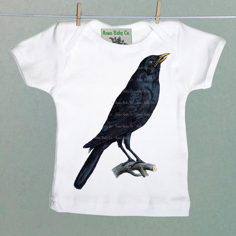 Crow Bird Organic Baby Shirt