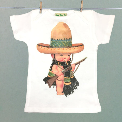 Organic Baby Shirt with Mexican Soldier