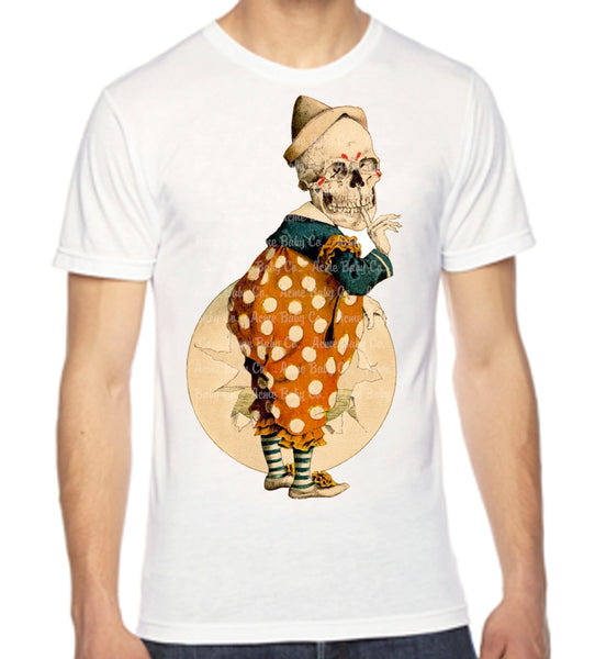 Skeleton Clown Unisex Men's Organic Shirt