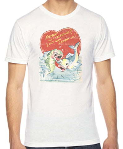 Fishin' for a Valentine Adult Unisex Organic Shirt