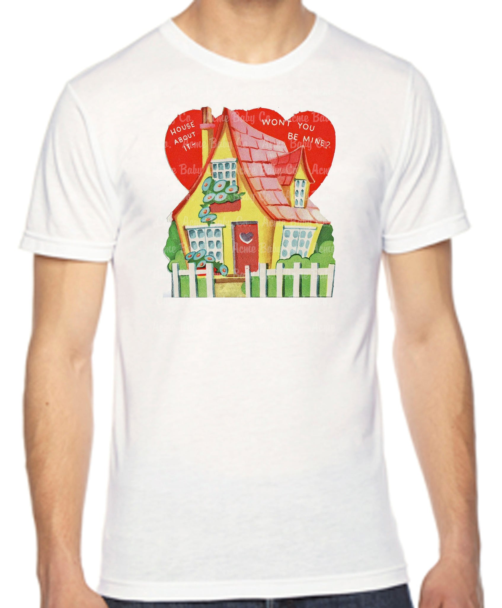 House About It Valentine Adult Unisex Organic Shirt