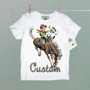 Custom Cowboy Organic Children's Shirt