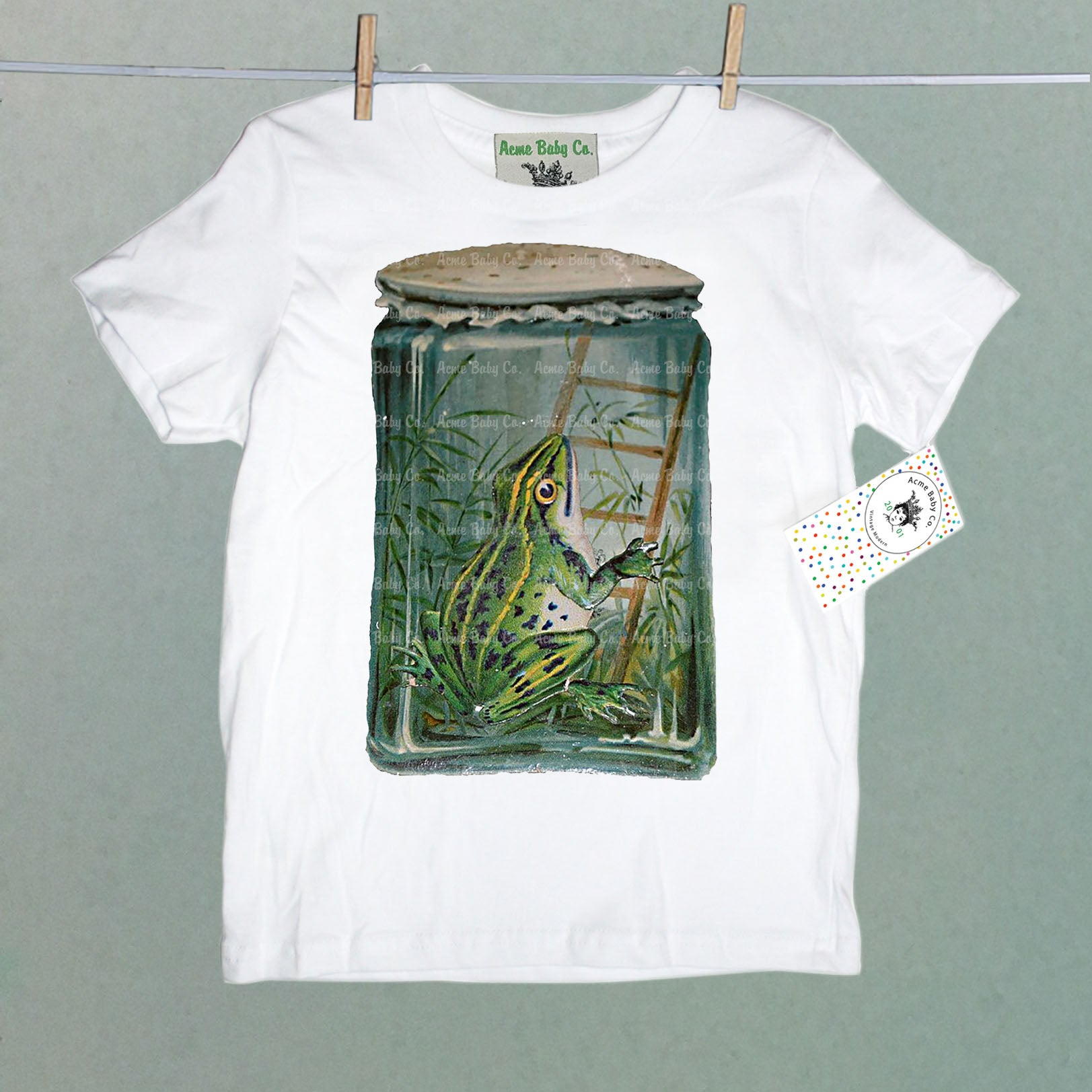 Frog in Jar Organic Children's Shirt