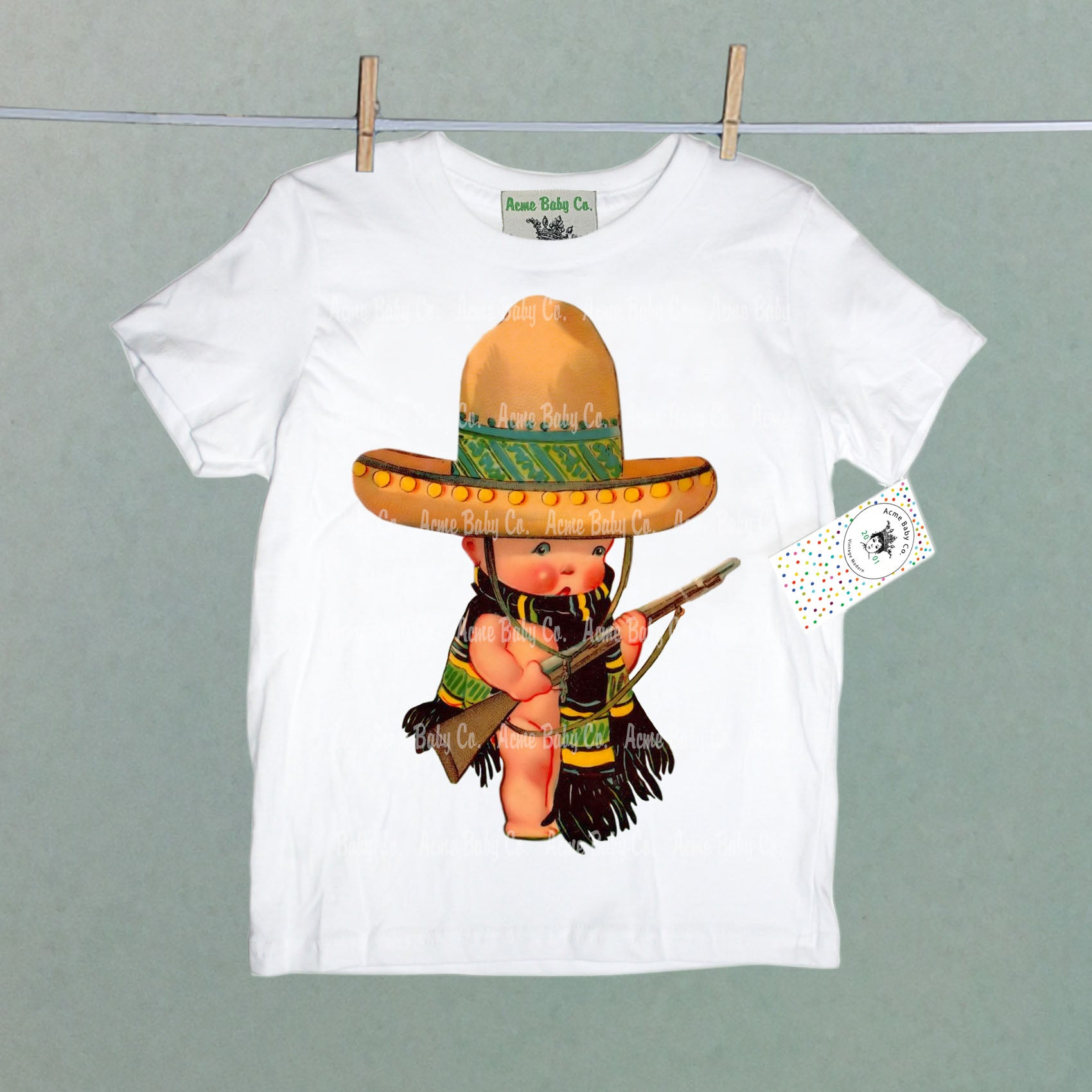 Retro Mexican Soldier Organic Children's Shirt
