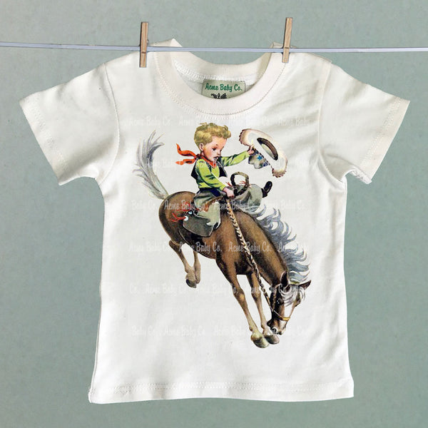 Custom Hair Children's Cowboy Shirt with Buckaroo