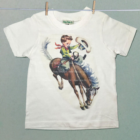 Custom Organic Children's Cowboy Shirt with Western Buckaroo
