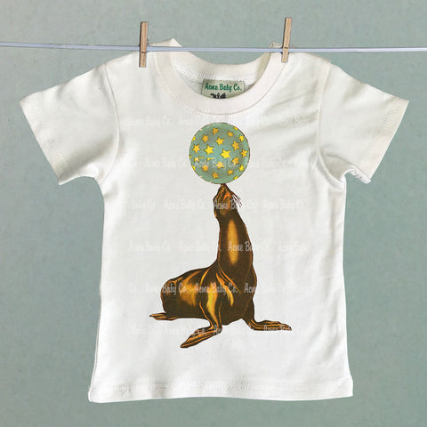 Circus Seal and Ball Children's Shirt