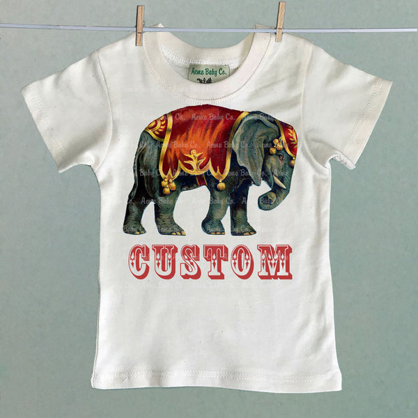 Custom Circus Elephant Children's Shirt