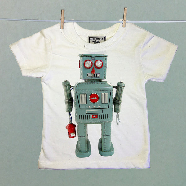 Robot with Lantern Children's Shirt