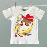 Vintage Kid's Organic Shirt with Ice Cream Valentine