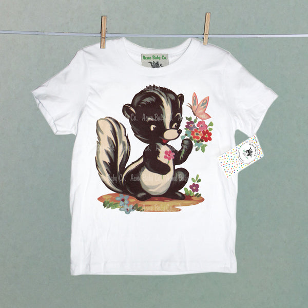 Skunk with Butterfly Organic Children's Shirt