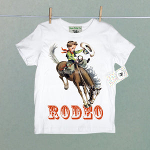 Organic Children's Rodeo Shirt with Rodeo Buckaroo