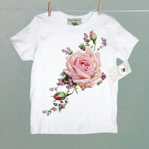 Pink Roses and Heather Organic Children's Shirt