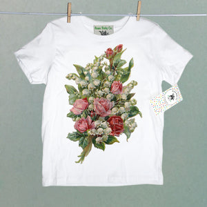 Roses and Lily of the Valley Organic Children's Shirt
