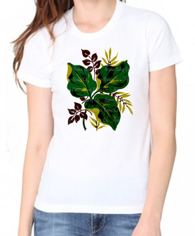 Mid-Century Bark Cloth Flora Women's Organic Shirt