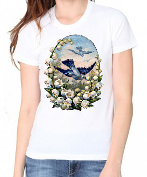 Bluebird Lily of the Valley Women's Organic Shirt