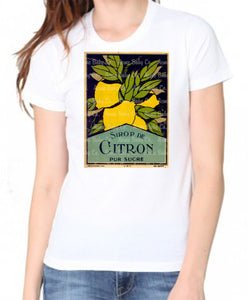 Citron Vintage French Lemons Label Women's Organic Shirt