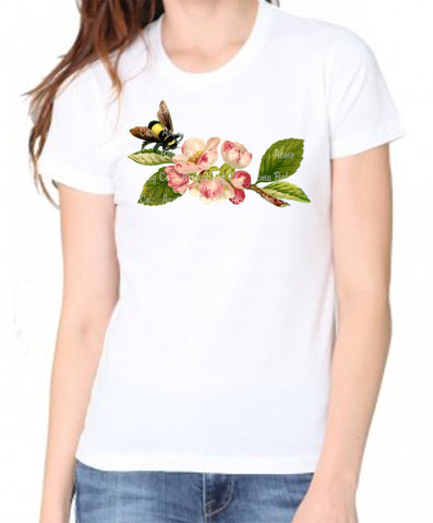 Bumble Bee Cherry Blossom Women's Organic Shirt