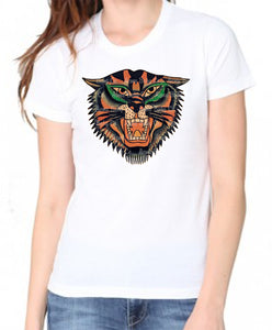 Vintage Tattoo Tiger's Head Women's Organic Shirt