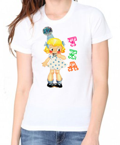 Tea Party Cutie Women's Organic Tee Shirt