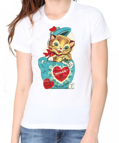 Sugar Kitty Women's Organic Valentine Shirt