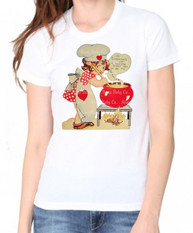 Cooking Up a Scheme Women's Organic Valentine Shirt