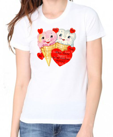 Ice Cream Cuties Women's Organic Valentine Shirt