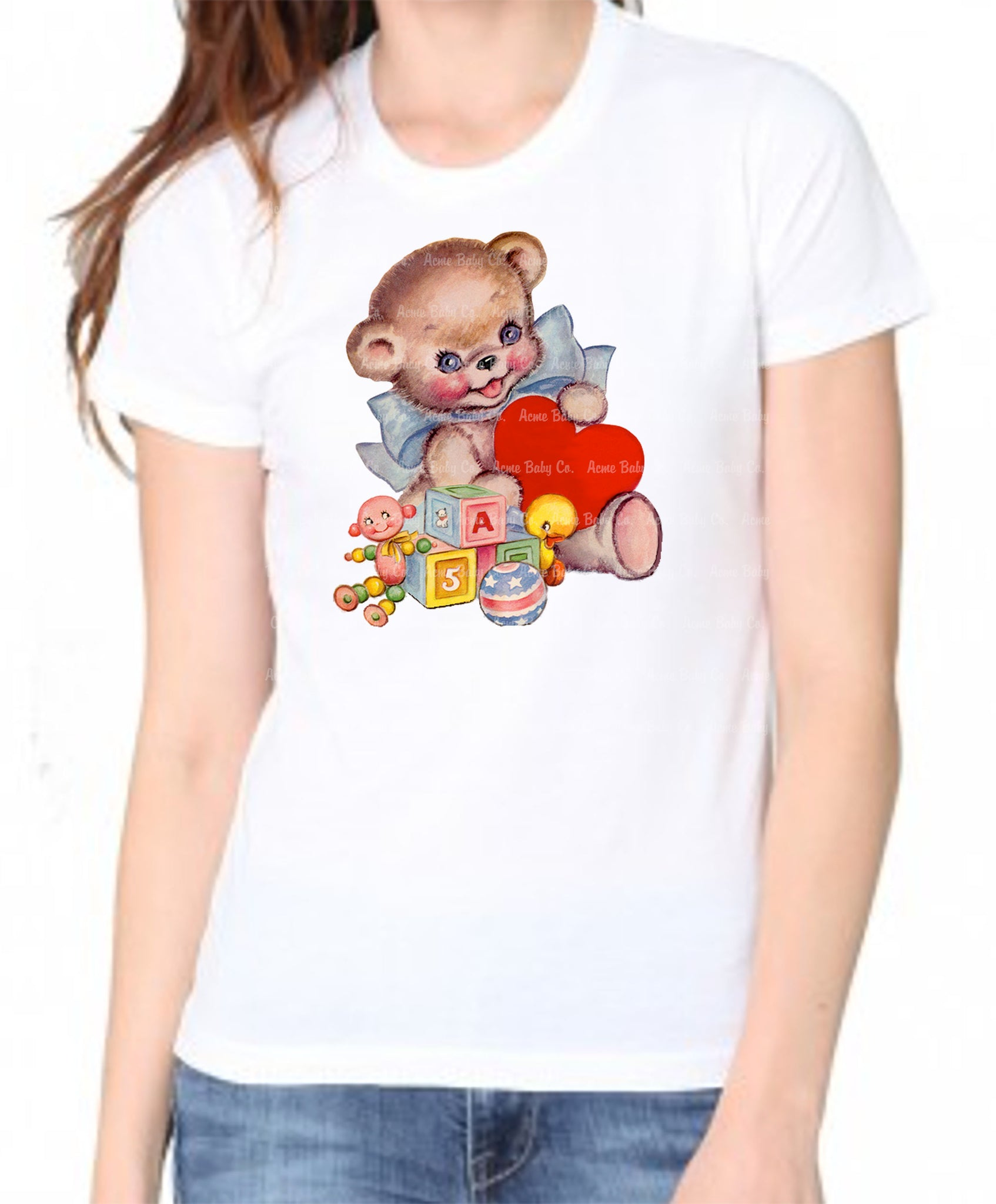 Kitschy Teddy Bear Women's Organic Tee Shirt