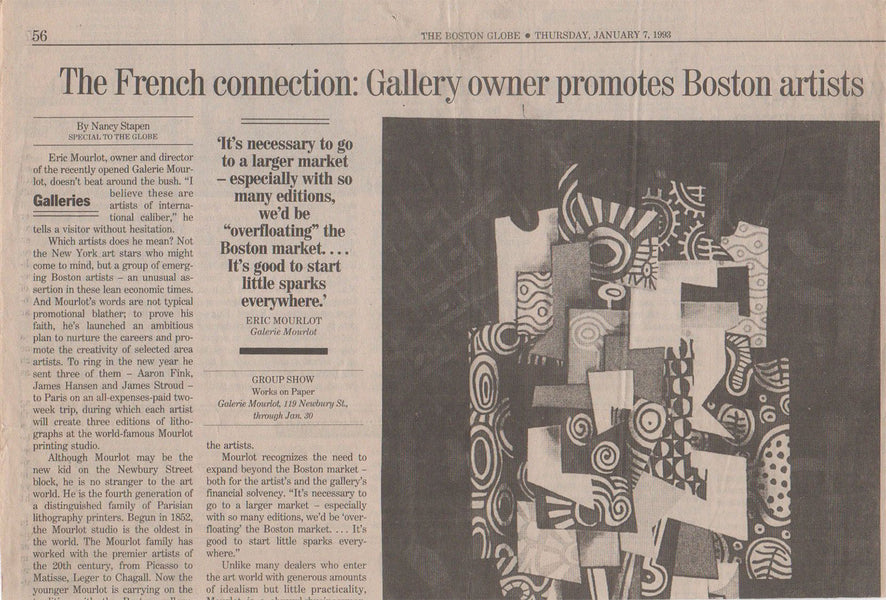 The French connection/ Gallery owner promotes Boston artists