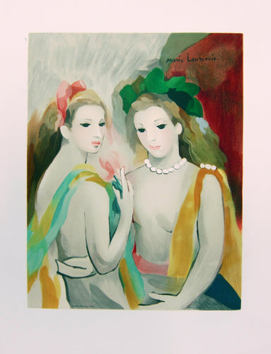 two women posing marie laurencin mourlot