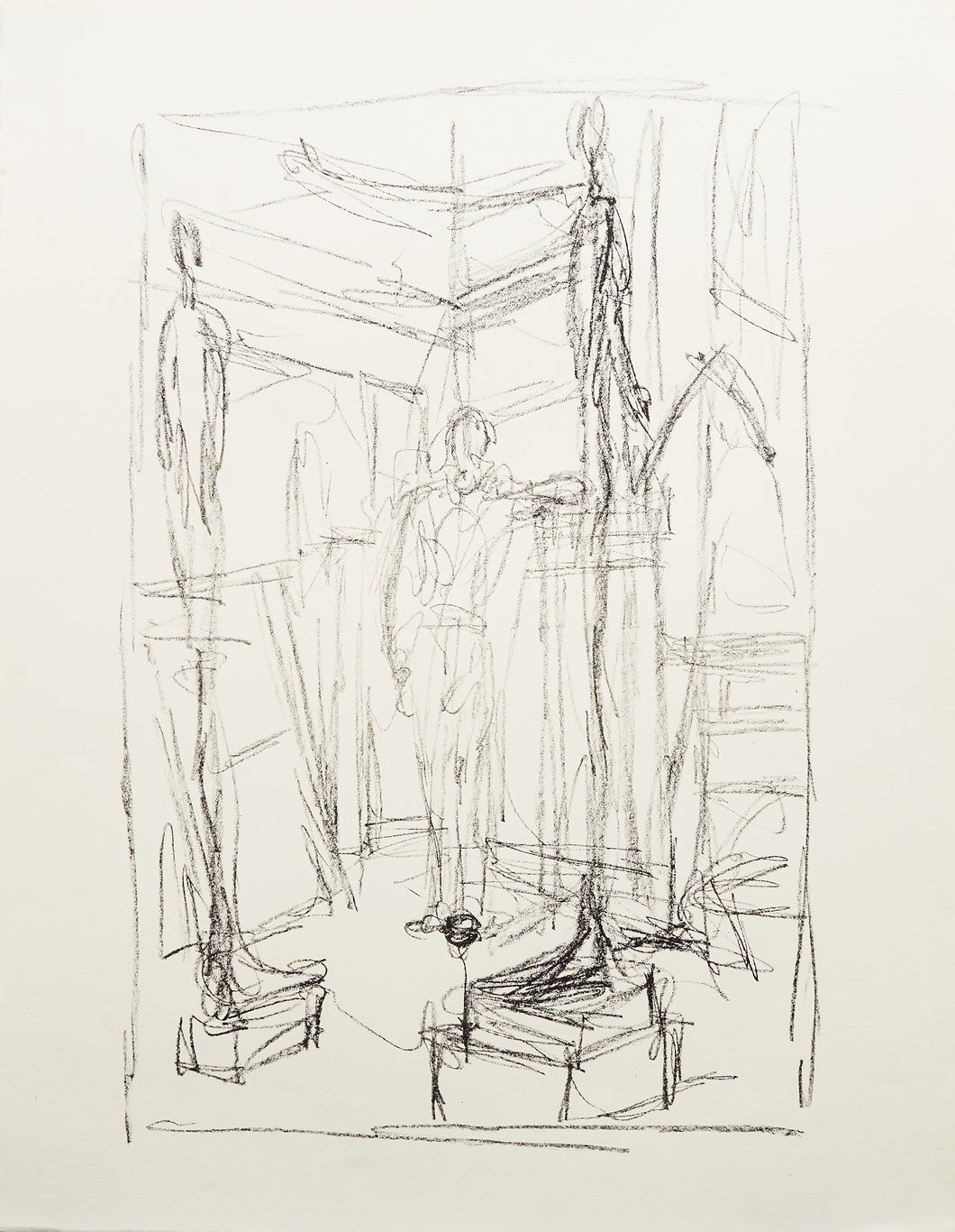 Figure in the Studio by Alberto Giaometti