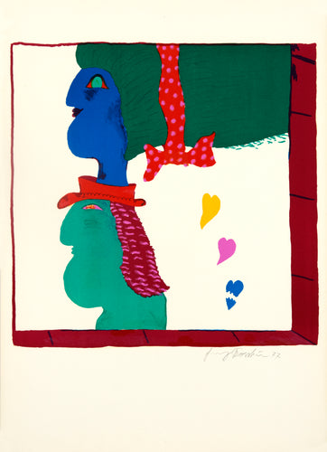 Blue Woman, Green Man by Alekos Fassianos 1977