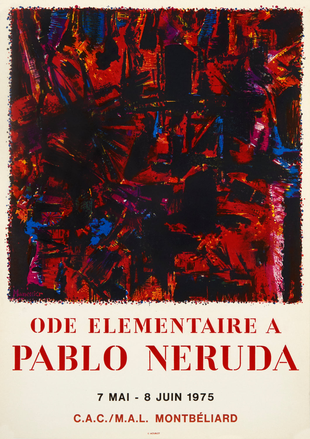 Ode elementaire a Pablo Neruda by Alfred Manessier 1975