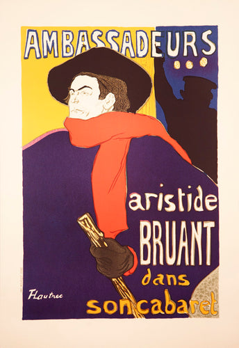 Ambassadeurs Aristide Bruant in his cabaret by Henri de Toulouse-Lautrec