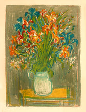 Bouquet by André Cottavoz original lithography A.P. Signed and Dated