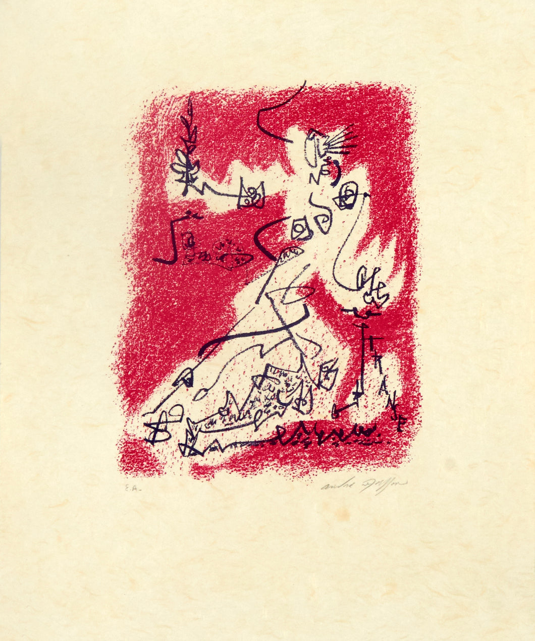 "Le départ from the book ""Souvenirs d'artiste/s"" by André Masson 1972"