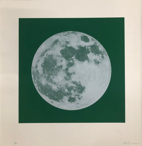 Moon Portraits - Full Moon - December 3, 2017 (Green) by Andy Gershon