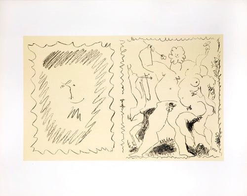 Bacchanal by Pablo Picasso original lithograph 1955